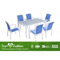Wholesale Garden 7PCS Lightweight Alum Dining Table And Chairs With Shining Colors from china suppliers