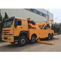 Wholesale SINOTRUK HOWO Heavy Duty Tow Truck , 12 Wheels 50 Ton 360 Degree Rotator Tow Truck from china suppliers