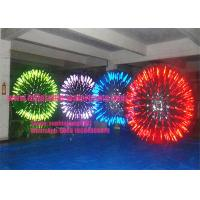 Wholesale Glow / Shining Inflatable Zorb Ball Hot Air Welded SGS RoHS Certification from china suppliers