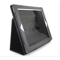 Wholesale PU Leather Ipad2 Protective Case  Black Smart With 2 Folds And Frame from china suppliers