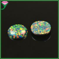 Wholesale China factory wholesale standard /customed egg shape synthetic black opal cabochon from china suppliers