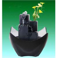 Wholesale Black Tiered Battery Operated Resin Garden Fountains With Flower Pot from china suppliers