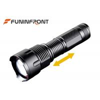 Quality White & Yellow & Blue Light Zoom LED Flashlight for Outdoor Camp, Hunt, Fishing for sale