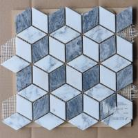 Wholesale Cubic Shaped External Garden Mosaic Tiles Border Mosaic Path Tiles For Kitchen Backsplash from china suppliers