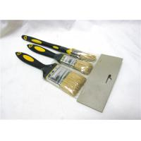 Wholesale Plastic Handle Flat And Round Paint Brush Sets With Bristle For Oil Painting from china suppliers
