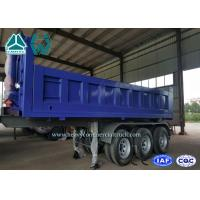 Quality 40 Cubic Meter Rear Tipper Semi Trailer 3 Axle with 6 - 8 Steel Sheet , 9200mm Length for sale