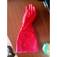 Wholesale protective Red PVC dipped glove oil resistance gloves working gloves from china suppliers