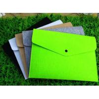 Wholesale Wholesale A4 size Eco-Friendly felt file bag, Felt Document Folder from china suppliers
