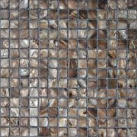 Wholesale 4mm Nature Pearl Sea River Shell Mosaic Tile for Decoration, Mesh Backing from china suppliers