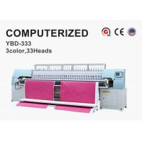 Wholesale Tricolor Computerized Embroidery Machine , Automatic Quilting Machine Easy Operation from china suppliers