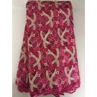 Buy cheap Lucky grass purple african lace natural fabrics lace switzerland for dress from wholesalers