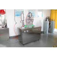Wholesale Semi Auto Aerosol Filling Equipment / Aerosol Can Filling System 316 Stainless Steel from china suppliers