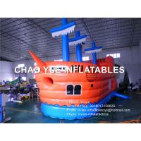 Wholesale Pirate Ship Shaped Inflatable Bouncy Castle / Jumping Castle For Playground from china suppliers