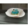 Buy cheap Plastic Porcelain Dinnerware Dessert Bowl Flower Decorative Border Top Dia.18CM from wholesalers