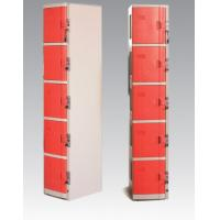 Wholesale ABS Material Coin Operated Lockers 5 Tier Red / Orange For Swimming Pool from china suppliers