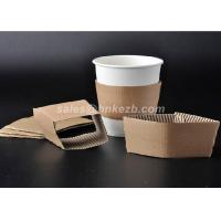 Wholesale Disposable Paper Cup Accessories Cardboard Paper Sleeves For Coffee Cups from china suppliers