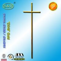 Wholesale Zamak Cross And Crucifix For Coffin Lid Decoration Funeral Accessories D046 gold color from china suppliers