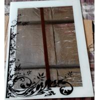 Wholesale black flower screen printing mirror from china suppliers
