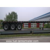 Wholesale Tri - axle Flatbed semi trailer for transporting bulk cargo or steel products from china suppliers