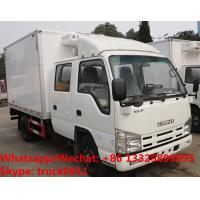 Wholesale High quality 2018s Japan ISUZU 4*2 LHD double cabs 2tons fresh meat cooling van truck for sale, refrigerator truck from china suppliers