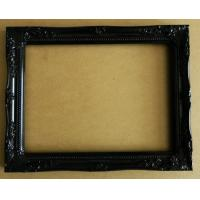 Wholesale shining black solid wooden wall mirror frame,office decorative mirror frame from china suppliers