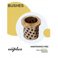 Buy cheap Centrifugal Casting High Hardness C86300 Manganese Bronze Graphite Plugged Bushings Oilless Plain Bearings from wholesalers