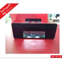 Wholesale OEM Accepted 100% Virgin Rectangle Black Tabletop Acrylic Holder Stand In Bar from china suppliers