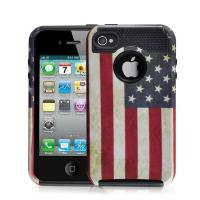 Wholesale Hottest Sale Retro USA Flag Iphone 4S Rugged Case TPU+PC Combo Case from china suppliers