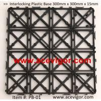 Wholesale PB-01 Interlocking Plastic Base, Plastic mats, Plastic tile from china suppliers