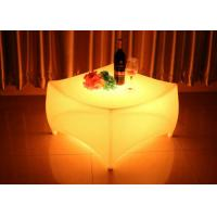 Wholesale RGB round LED Bar Table , plastic glow bar table with 1 year warranty from china suppliers