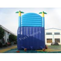 Wholesale Adult Giant Inflatable Slide UV - resistant Blue Jumping Air Slide from china suppliers