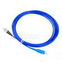 Wholesale PVC Armored Fiber Optic Jumper SC-FC Singlemode G657A1 9/125 Simplex Blue Cable from china suppliers