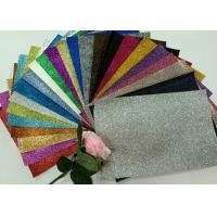 "1/128"" Glitter Mixed Colors PU Glitter Fabric PU Cloth Backing For Christmas Box"