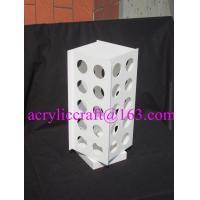 Wholesale Customizable 4 sides white acrylic coffee capsule diaplay stand from china suppliers