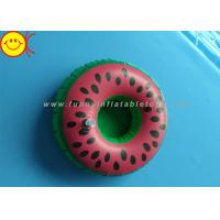 Wholesale Watermelon Inflatable Water Floats / Pool Floats Customized Inflatable Cup Holder from china suppliers