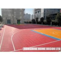 Wholesale Blue Indoor / Outdoor Polypropylene Interlocking Floor Tiles , Modular Futsal Court Floor from china suppliers