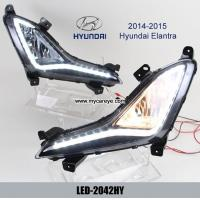 Wholesale Hyundai Elantra DRL LED Daytime Running Lights daylight for car front from china suppliers