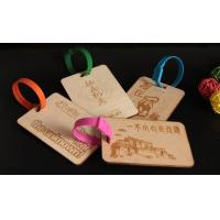 Wholesale Custom Wood engraved luggage hang tag from china suppliers