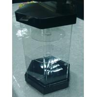 Wholesale Hexagonal 3 Tiers Clear Turning Acrylic Watch Display Stand with Locking Case LED Light from china suppliers