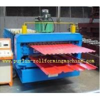 Wholesale Corrugated Roof Tile Roll Forming Machine Double Layer 0.3mm - 0.8mm for Colored Steel Tiles from china suppliers