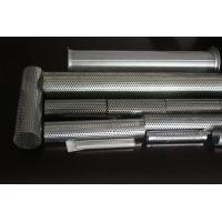 Wholesale thin Antiskid Stainless Welded Perforated Metal Tube Filter 0.2 - 15mm Thick from china suppliers