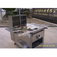 Wholesale 6 Trays Hot Dog Concession Carts , Mobile Kitchen Carts 3 gas steamers from china suppliers