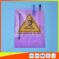 Wholesale Medical / Laboratory Specimen Transport Bags Plastic Resealable With Document Pouch from china suppliers