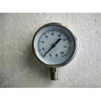 "Wholesale 4""( 100mm ) All Stainless Steel Lower Entry Dry Pressure Gauge , 0 160 psi Pressure Gaug from china suppliers"