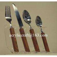 Wholesale Kitchen acrylic knife display holder stand cheap PMMA forks & knifes rack from china suppliers