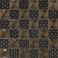 Wholesale Metal pattern ceramic backup blend glass mosaic tile from china suppliers