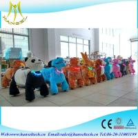 Wholesale Hansel coin operated plush animal New Product Animal Zoo Ride Happy Rides Zoo Animal Scooter from china suppliers