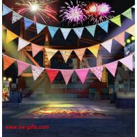 Wholesale Event Party Supplies Birthday Wedding Christmas Decoration Multi-Color Fabric Bunting Penn from china suppliers