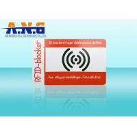 Wholesale PVC Outside Rfid Blocking Card Holder Resistant / Puncture And Tear Resistant from china suppliers