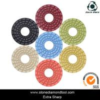 Buy cheap 3 inch 80mm Resin Diamond Floor Grinding Pad Velcro Concrete Abrasive Disc from wholesalers